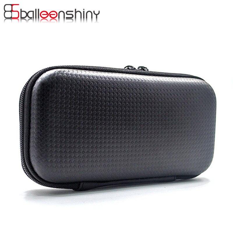 BalleenShiny Portable Black Digital Storage Box Bin Data Cable Earphone Wire Pen Organizer Travel Kit Case USB Gadget Rangement