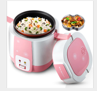 Mini Rice Cooker 1.2L Children's student pot cooking porridge soup mini electric Cooker One click operation 304 Stainless Steel