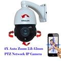 2MP Full HD 1080 P Mini Medium Speed Dome IP Móvil PTZ Cámara 4X Zoom Motorizado Automático 2.8-12mm lente Varifocal Al Aire Libre Onvif