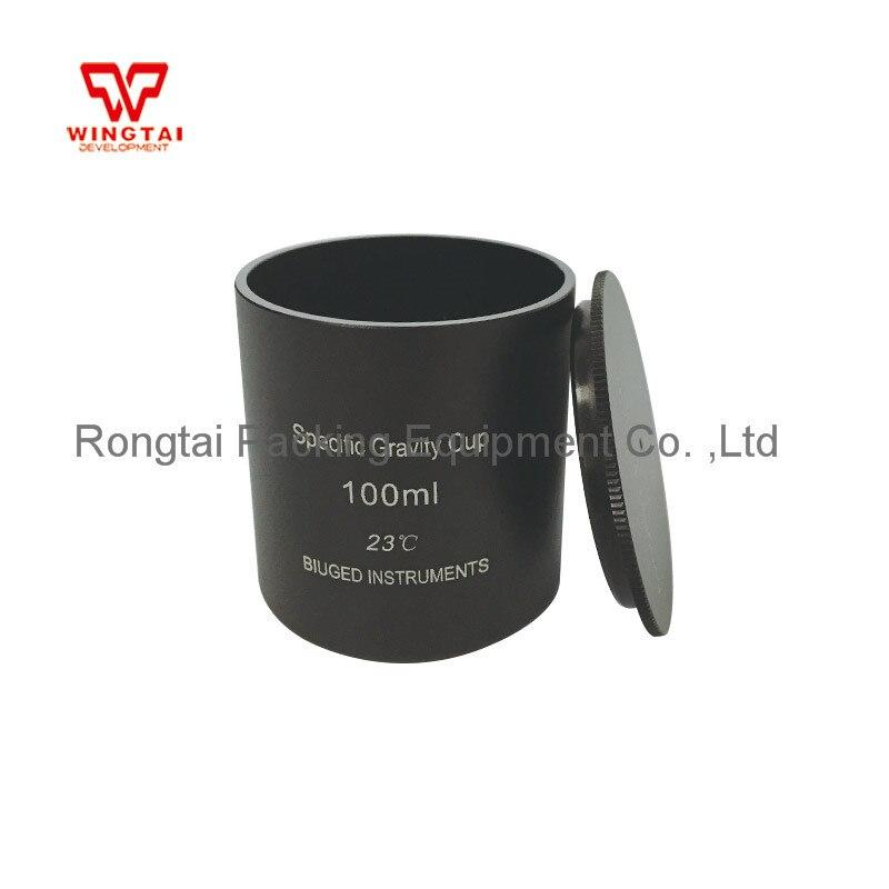 Aluminium Dichtheid Maatbeker 37cc/ml 50cc/ml 100cc/ml Specifieke Gravity Cup Hoge Precisie Dichtheid Cup voor Lab Testen