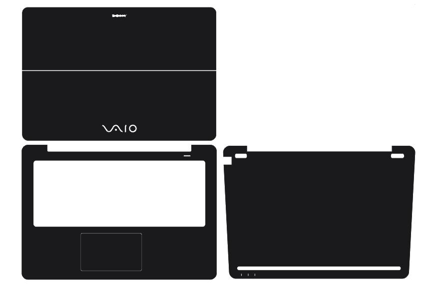 Laptop Carbon Fiber Vinyl Skin Sticker Cover For Sony VAIO Flip 14 SVF14N25CXB SVF14N13CXB SVF14N11CXB 14-inch