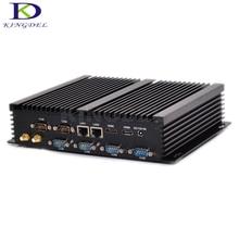 Kingdel безвентиляторный промышленный мини-ПК Win10 Core i3 4030Y Dual NIC 6 * COM RS232 Тонкий настольный компьютер 300 м Wi-Fi 2 * HDMI