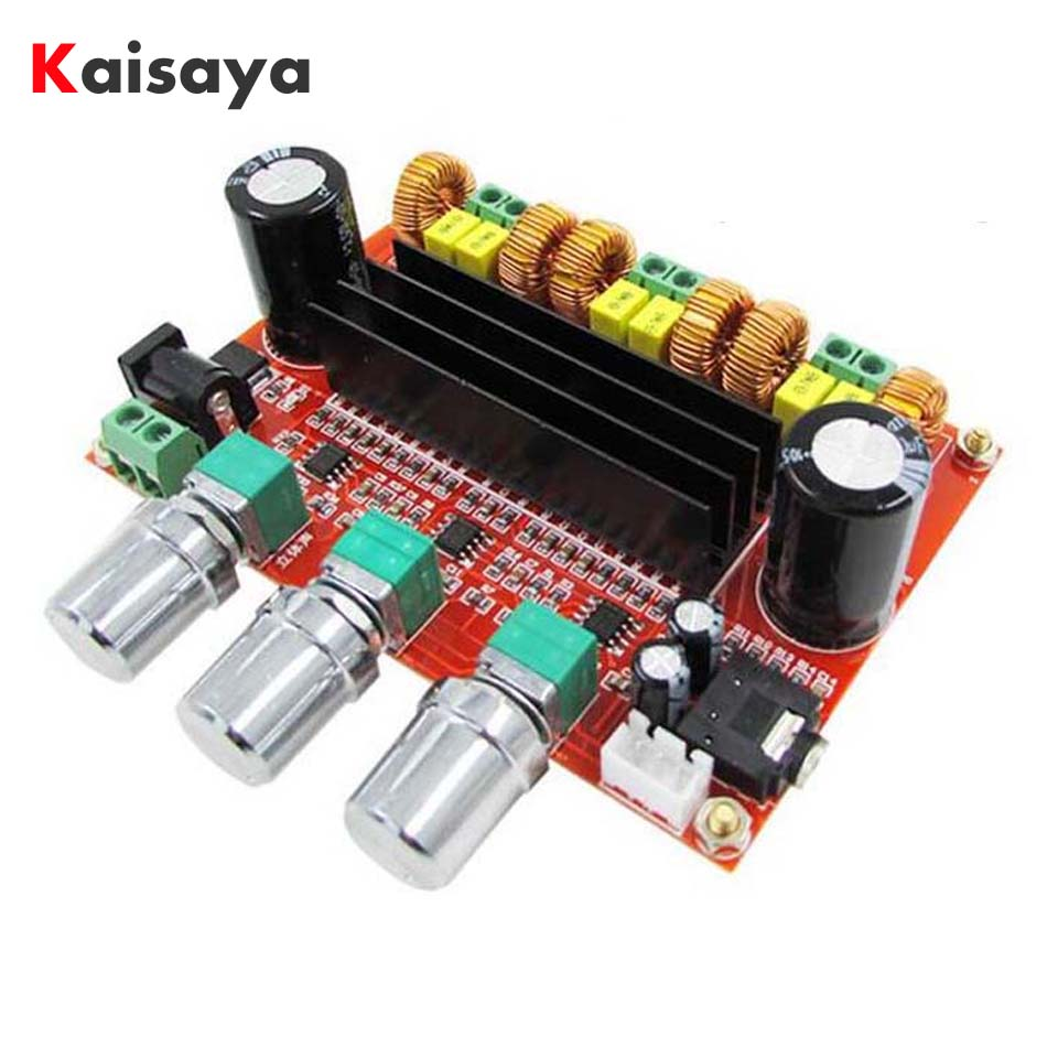 XH-M139 new version TPA3116D2 DC12V-24V 2X50W+100W 2.1 Channel digital Subwoofer Amplifier Board D3-005