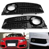 2x Car Front Bumper Fog Light Cover Trim Mesh Grille For Audi A4 B8 09 11 New For Audi A4 Fog Light Cover Grille Gril