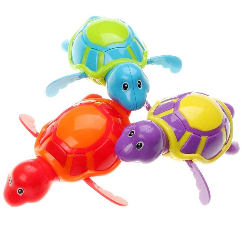 2018 New Lovely Baby Wind Up Bath Toys Turtle Alligator Clockwork ...