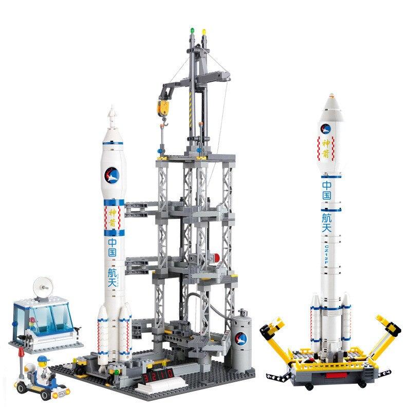 Kazi Aerospace Building Blocks Kid Enlighten Block космический ракетный Запуск Центр строительные блоки Совместимые Legoe игрушки для детей