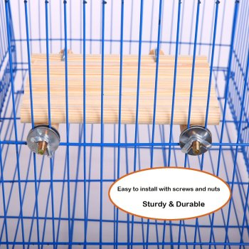 Natural Wood Bird Toys SetPlaced in The Bird Cage by Playground for Small and Medium Parrots Parakeet  Hamster Cage Pack of 4pcs 4