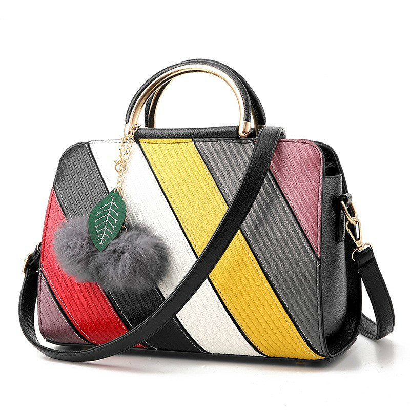 2018 Female Fashion High Quality Women Shoulder Bag Messenger Bag Crossbody Bags PU Leather Stripe Luxury Designer Handbag Tote women handbag shoulder bag messenger bag casual colorful canvas crossbody bags for girl student waterproof nylon laptop tote