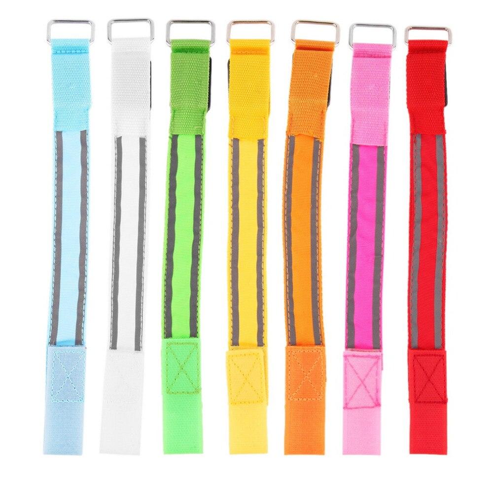 Arm Warmer Belt Bike LED Luminous Armband LED Safety Sports Reflective Belt Strap Snap W ...