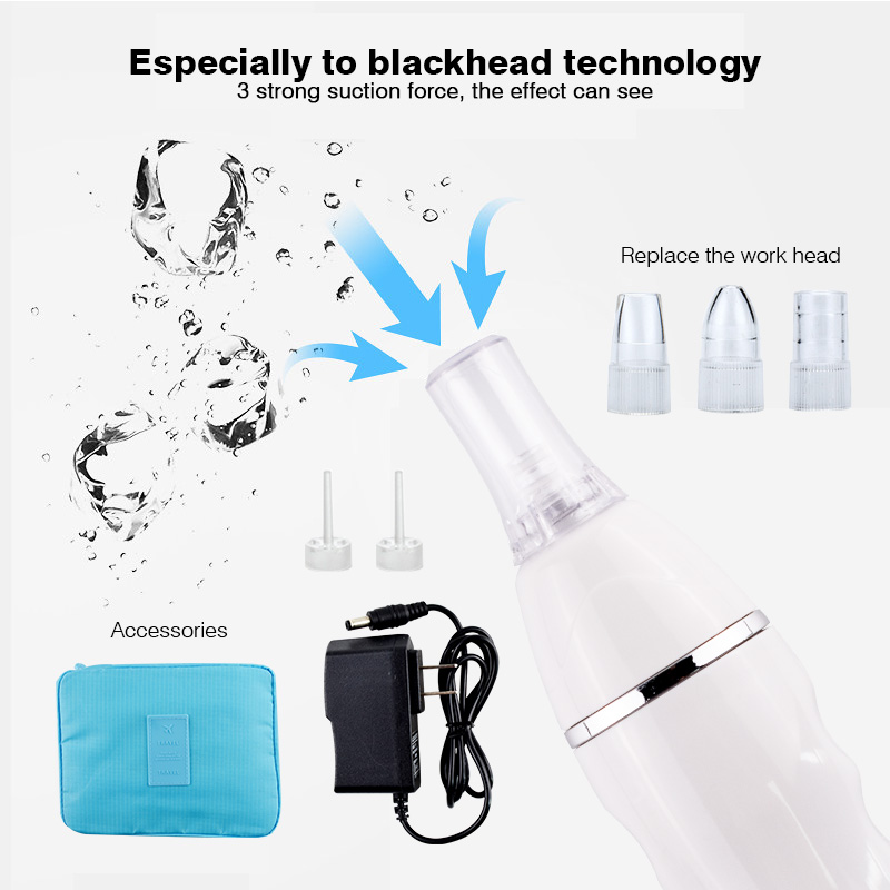 7 Tips Vacuum suction skin cleaner blackhead comedones facial cleansing device acne pore remover machine blackhead treatment kingdom cares electric vacuum blackhead remover cleaner pores deep cleansing extractor machine soft blu ray spotkd 802