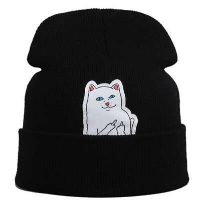 2015 hot beanie new style cat font b hat b font hip hop acrylic knit hedging
