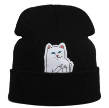 2015 hot beanie new style cat hat hip hop acrylic knit hedging winter hats for women men 8 colors