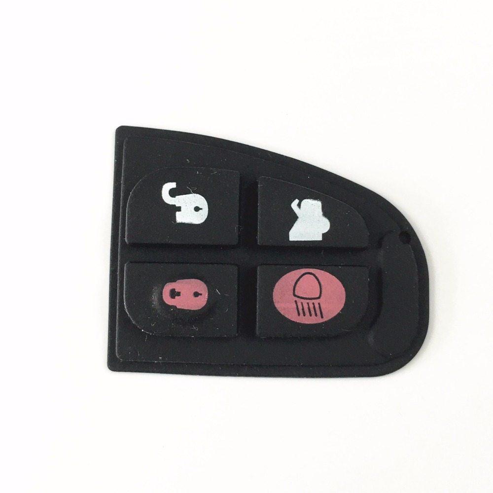 50pcs/lot Remote Key Fob Case Shell Repair Rubber Pad For Jaguar X Type XF E S 4 button