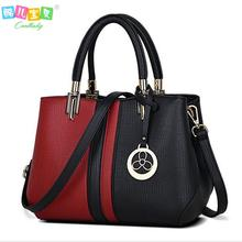 Designers Women Bag 2016 Fashion Patchwork women Messenger bags casual tote leather handbags Famou Brands female shoulder bag