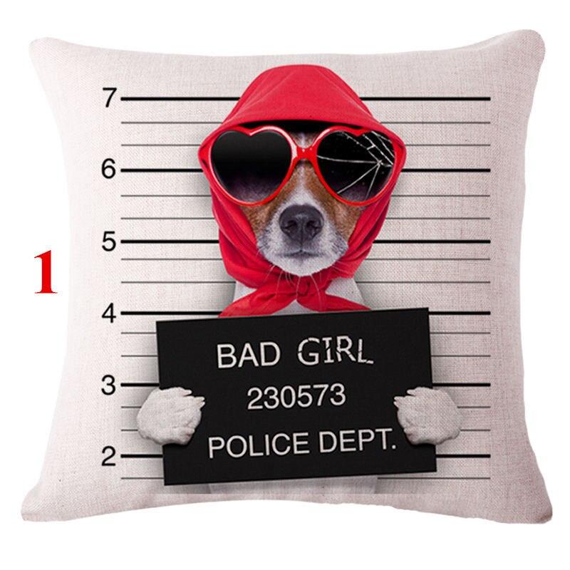 Decorative throw pillows case Animals Cool Dogs Ride Motorcycle Cushion Cover For Sofa Car Home Decor Almofadas pillowcase 45x45
