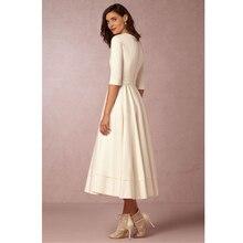CYAN Vintage Autumn Winter Dress Women 2018 Casual Plus Size Elegant Ball Gown Party Dresses Female Sexy V Neck Long White Dress