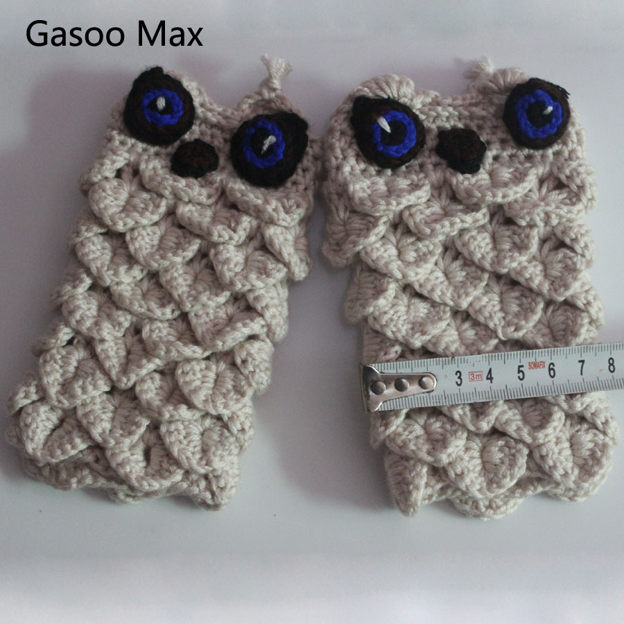 Owl shape baby Children knitted wool gloves and mittens 2017 winter ...