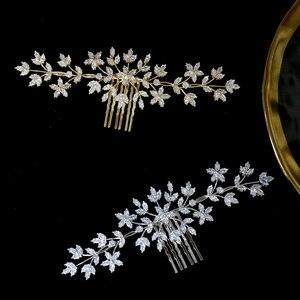 Image 2 - ASNORA 高品質ジルコニ櫛ブライダルジュエリーヘッドドレスウェディングヘアアクセサリー美容サロンアクセサリー