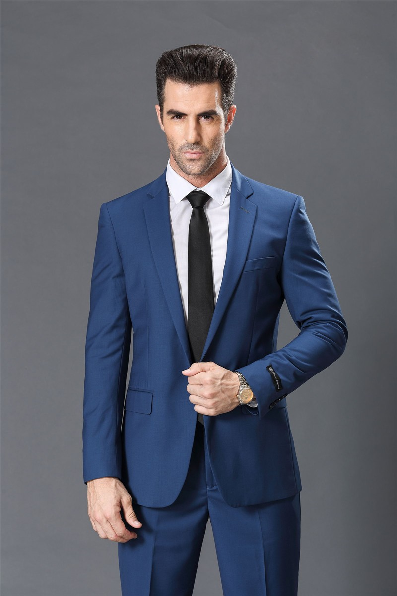 Customize Men Suits Fashionable Fit Business Red White Blue Tuxedo Wedding Jacket Pants Tie In From Mens Clothing Accessories On