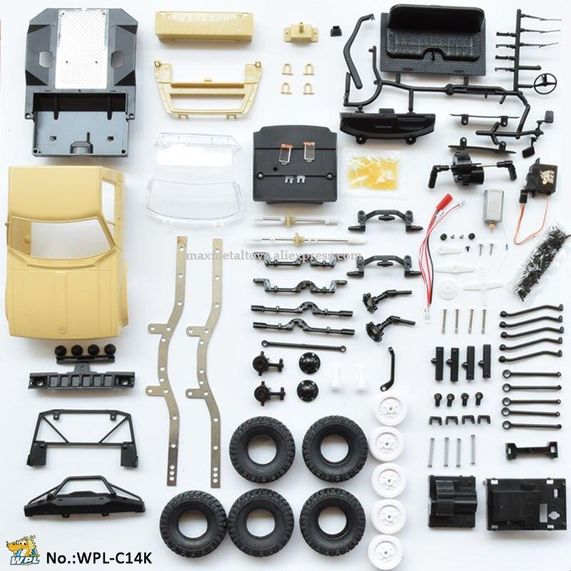 WPL C14 KIT 1:16 bricolage RC camion Hynix 2.4G Mini tout-terrain assembler voiture télécommandée RC voiture RC monstre camion sur chenilles 4WD enfant garçon