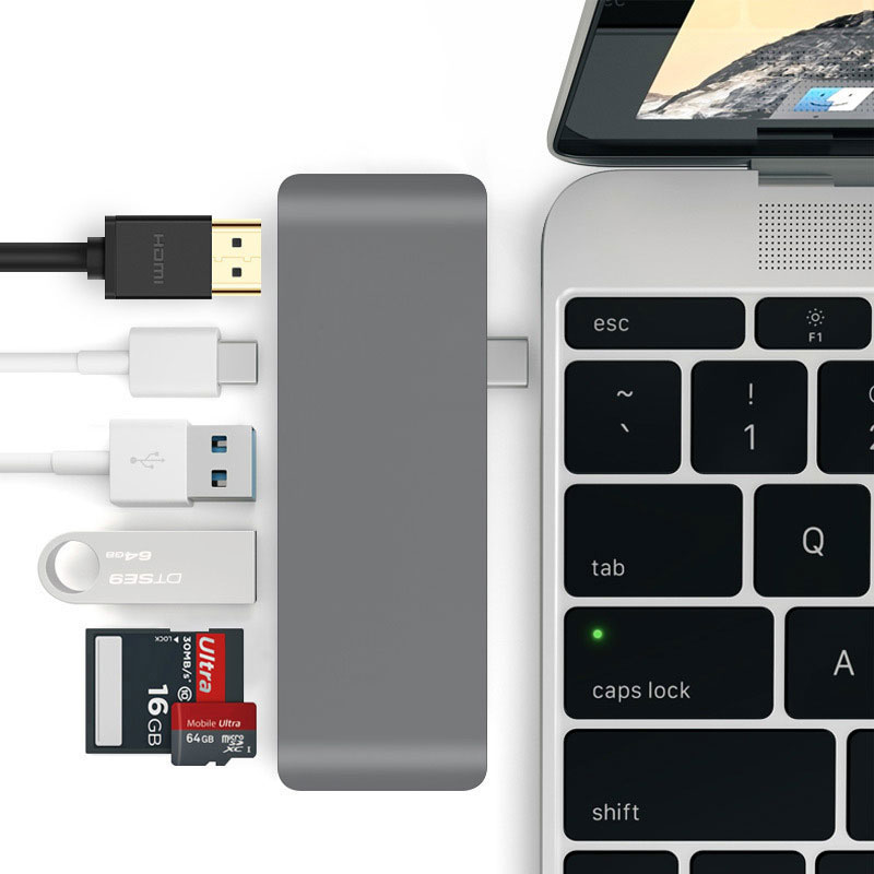 Thunderbolt 3 USB Typ-C Hub Dock Dongle zu HDMI unterstützung DEX PC Modus für Samsung Galaxy S8/ s9 mit PD TF SD Reader Slot USB 3.0