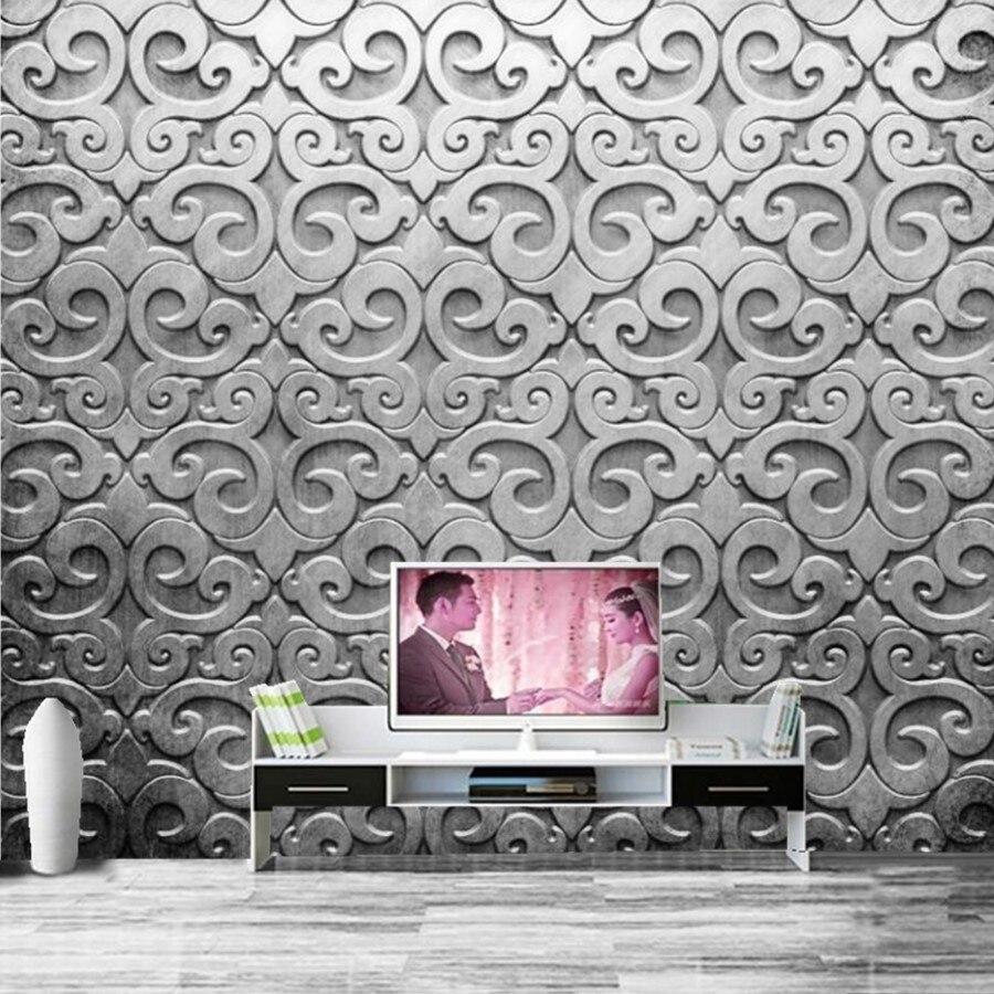 Carta Da Parati Texture us $11.4 62% di sconto|personalizzato 3d stereoscopico carta da parati,  texture traforo sfondi, bar dell'hotel ktv livng camera da letto parete tv  3d