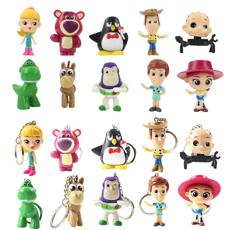 10pcs/lot 2styles Toy Story Keychain or figure action