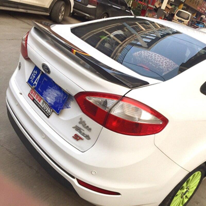 Pour Ford Fiesta berline 4 portes 2009-2016 voiture ABS Plasrtic non peint apprêt couleur queue aile arrière coffre à lèvres coffre arrière toit Spoiler