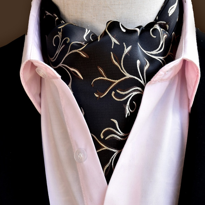 2018 Men Vintage Wedding Formal Cravat Ascot Scrunch Self Ties Gentleman Polyester Silk Scarves Neck Tie Luxury Paisley Pattern