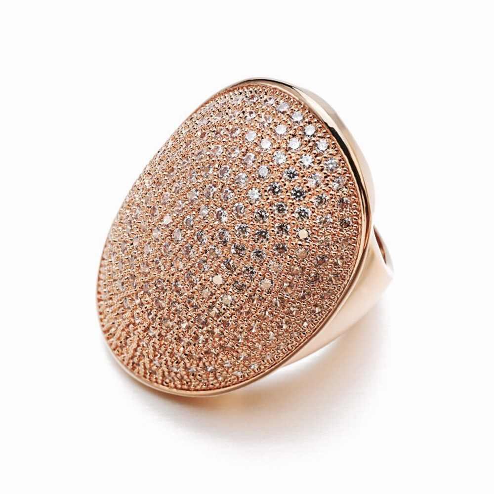 Vanaxin legal punk anéis para homens aaa pavimentado cz pedra gelo para fora festa de noivado rosa jóias de ouro feminino anel masculino moda jóias