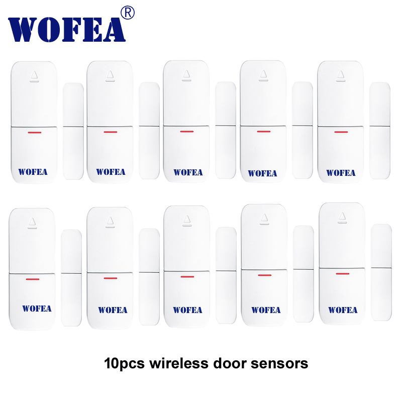 wofea Wireless window and door magnetic sensor open detector 1527 chips 433mhz