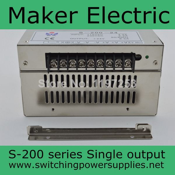 ФОТО nice S-200-15V 13A ac dc power adapter 200w