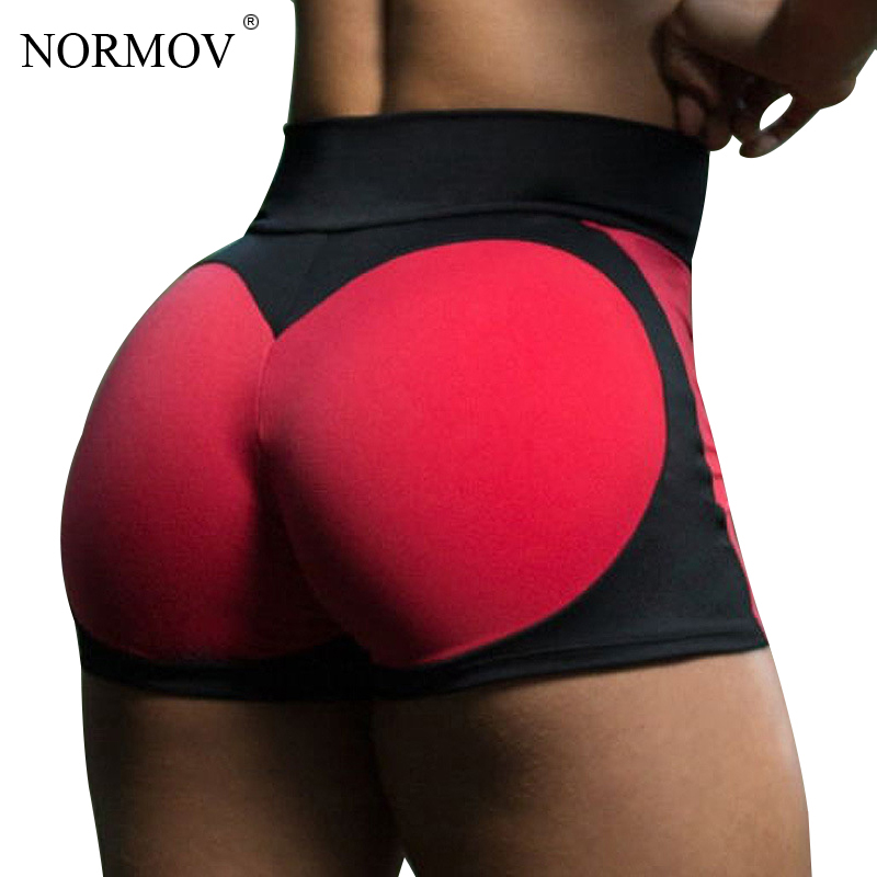 NORMOV Summer High Waist   Shorts   Feminino Push Up   Shorts   Women Sexy Heart Patchwork Skinny Mini Home   Shorts   Female 2 Color