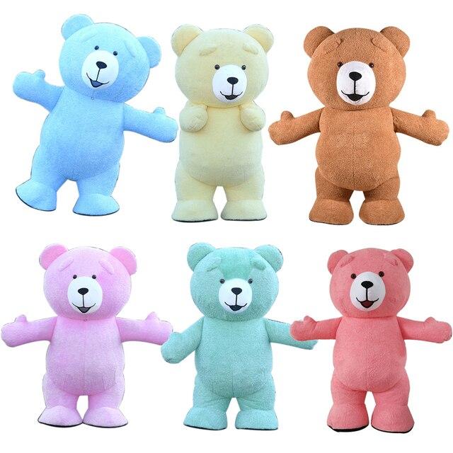 Urso de pelúcia traje inflável adulto gonflável nossos traje cosplay nossos en peluche mascote animal lol