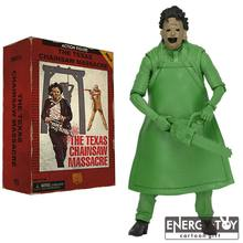 Aniversário do Clássico Filme de Terror The Texas Chainsaw Massacre Leatherface PVC action figure modelo toy coleção legal(China)