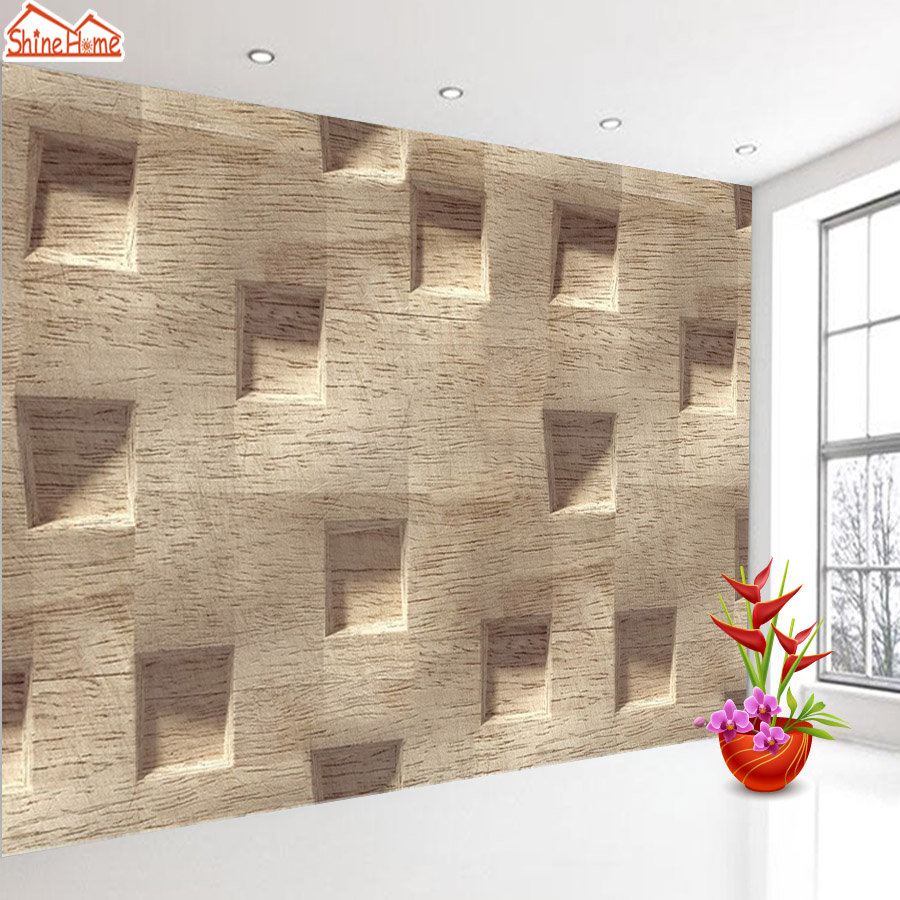 ShineHome-Classical Frame Wood Board Strip Abstract Background Wallpapers Rolls 3 d Wallpaper for Livingroom Walls 3d Room Paper shinehome modern banana leaf strip abstract background wallpapers rolls 3 d wallpaper for livingroom walls 3d kids room paper
