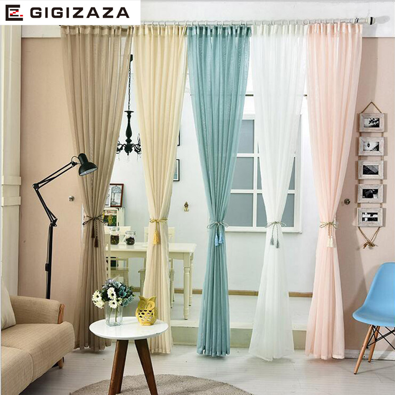 White Tulle Voile Curtains For Livingroom Bedroom Japan Custom Drape Transparent Window Sheer Pull Pleat