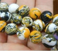 "Free shipping! Wholesale 8mm Multicolor Turkey Turquoise Round Jasper Loose Beads 15"" 2 pieces/lot fashion jewelry     JT6108"