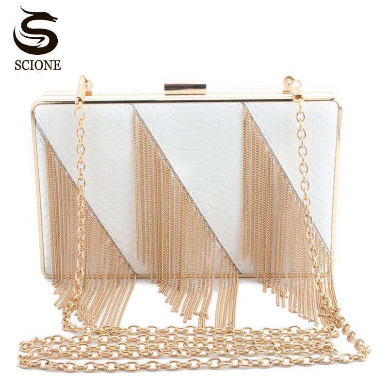 2018 tassel evening bags Crocodile Grain Summer Fashion Female Day Clutch Shoulder Chain Handbags Phone Key Wallet purse handbag coneed fashion women coins change purse clutch zipper zero wallet phone key bags j27m30