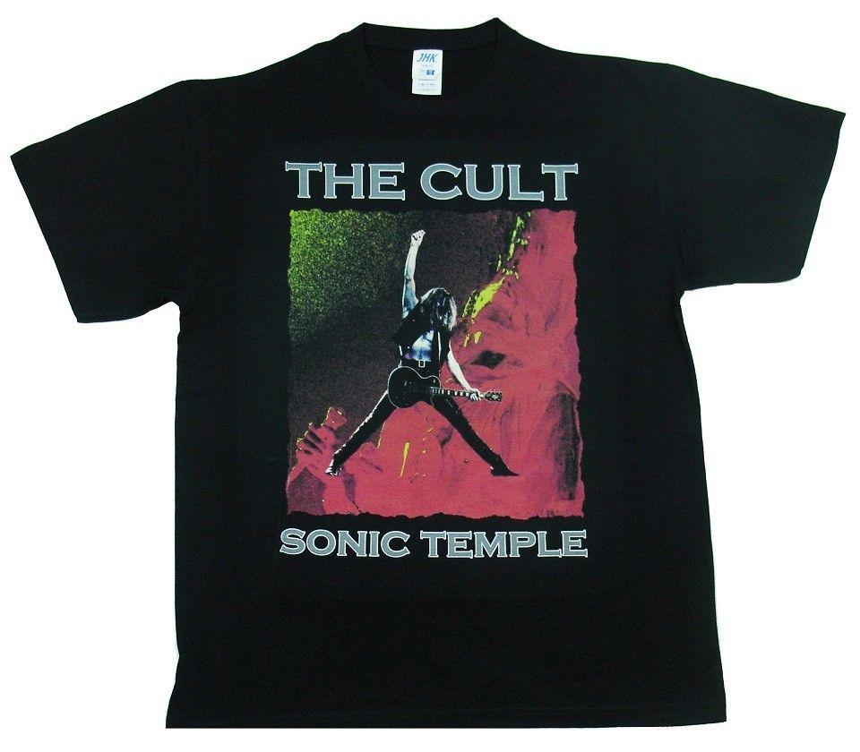 The Cult Sonic Temple Hard Rock Band Men/'s Black T-Shirt