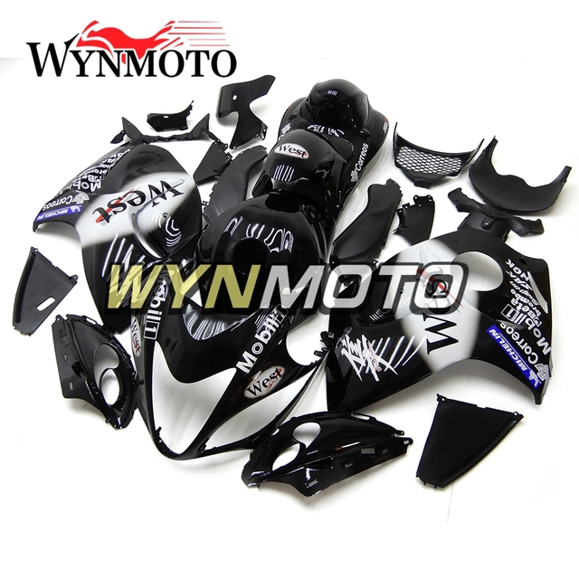 US $651 6 5% OFF|Complete Fairing Kit For Suzuki GSXR1300 Hayabusa Year 08  15 Frames ABS Plastic Injection Gloss Black White Motorcycle Hulls-in