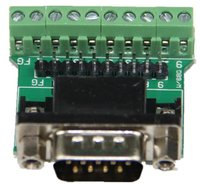 ADAPTER DB9 MALE Breakout To Pin Header Terminal Board