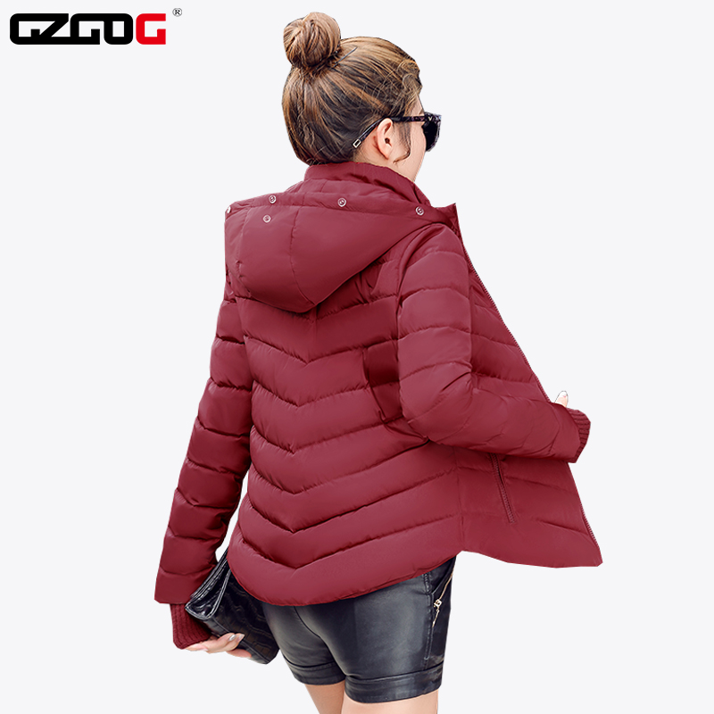 1c8f10951569a 2018 Winter Jacket women Plus Size Womens Parkas Thicken Outerwear solid  hooded Coats Short Female Slim