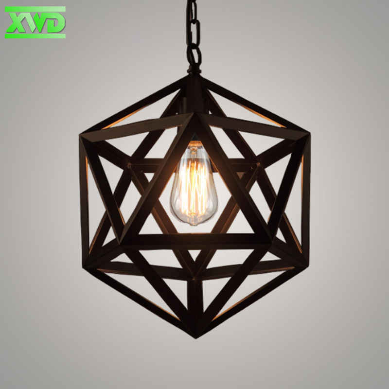 Vintage Iron Painted Pendant Lamp Parlor/Bar/Hotel Hall/Mall/Club/Dining Room/Coffee House Indoor Lighting E27 Lamp Holder loft american edison vintage industry crystal glass box wall lamp cafe bar coffee shop hall store club