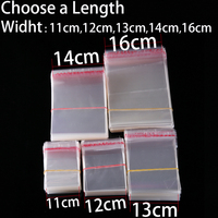 Wholesale 11 To 16cm Width Clear Self Sealing Plastic Bags Transparent Cookie Candy Bag Jewelry Packaging