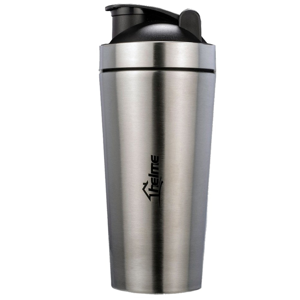 NEWEST STYLE 700ml Stainless Steel Protein Powder Shaker Blender Sports Water Bottle Fitness Home Office Dinkware Tool