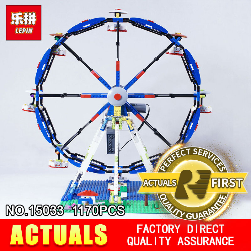 Lepin 15033 1170Pcs Building Classic Series The Three-in-One Electric Ferris Wheel Set Building Blocks Bricks Toys Model 10247 dhl lepin 15012 2518 pcs city expert ferris wheel model building kits blocks bricks toys compatible with legoingly 10247