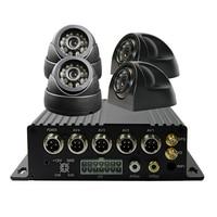 Free Shipping 4CH SD 3G GPS Car DVR H.264 I/O PC Phone Realtime View Audio Video Vehicle Recorder Car Rear View CCTV Camera Kit