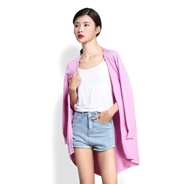 2017 Mi-longue poche aucun bouton ouvert lappet cardigan queue De Mode  Femmes Laine Tricoté b5732a59bc7f