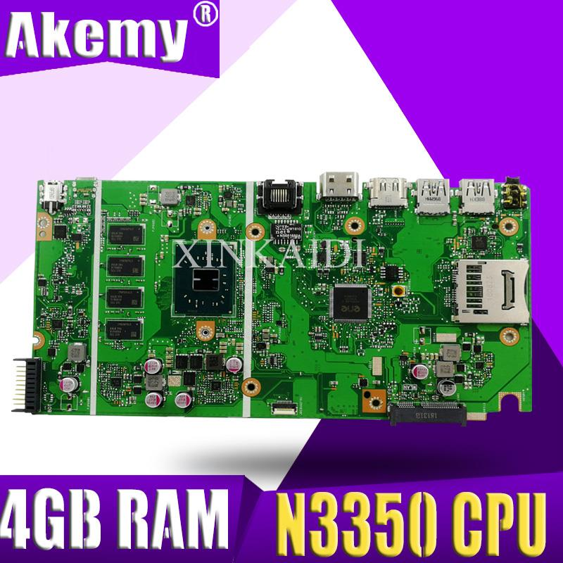 X541NA Motherboard For ASUS X541NA Laptop Motherboard X541NA Mainboard X541N Motherboard Test 100% OK N3350 CPU 4GB RAM